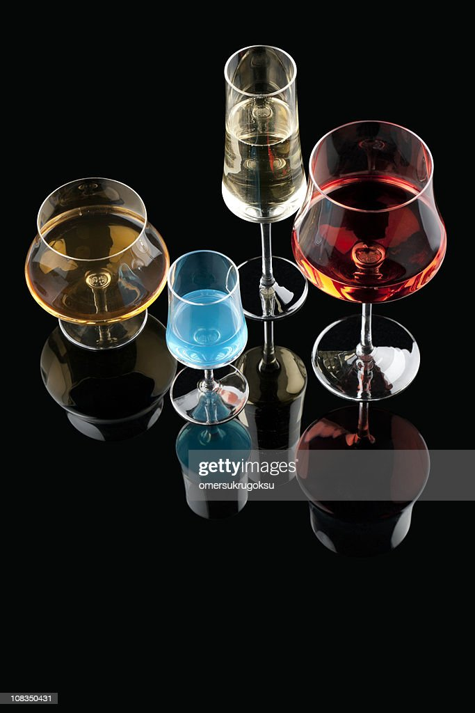 cocktail glasses : Stock Photo