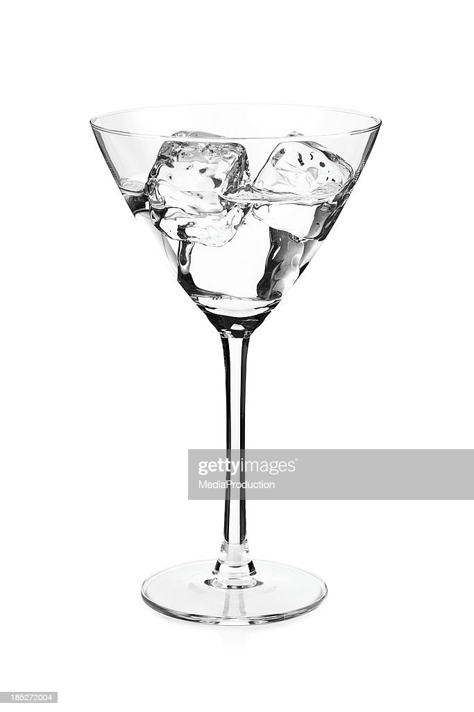 Cocktail in martini glass with ice