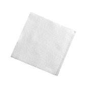 Square coctail handkerchief isolated on white background
