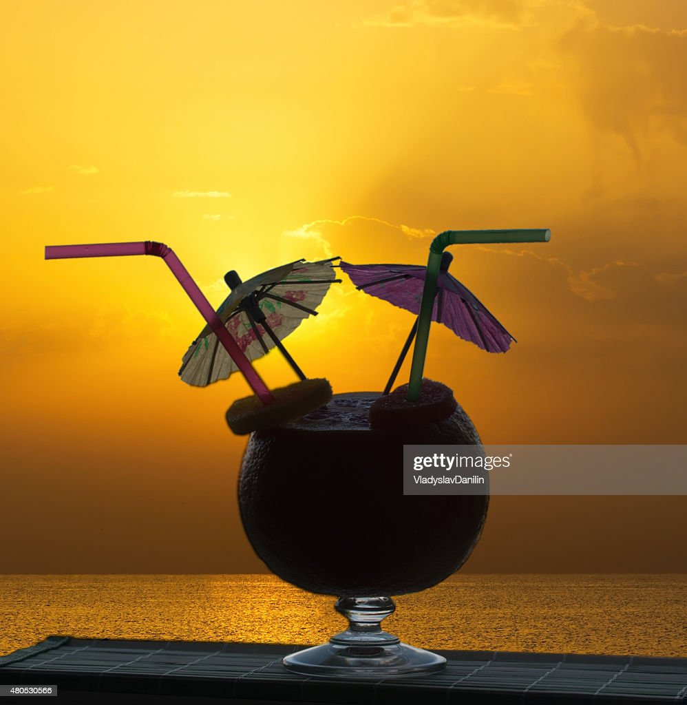 Cocktail on a beach : Stock Photo