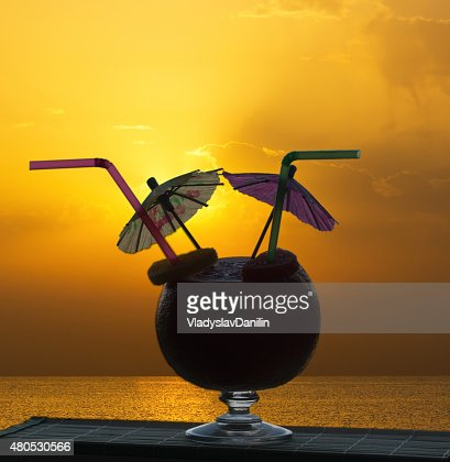 Cocktail on a beach : Stockfoto