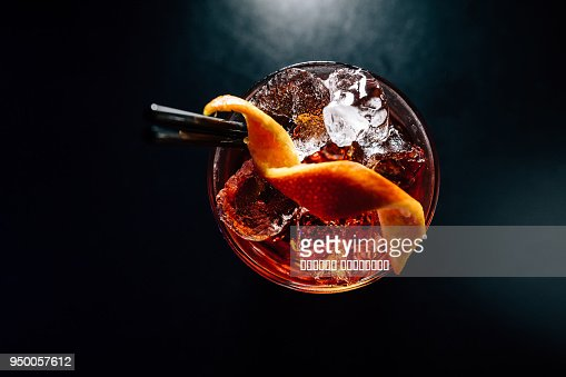 cocktail on a black background : Stock Photo