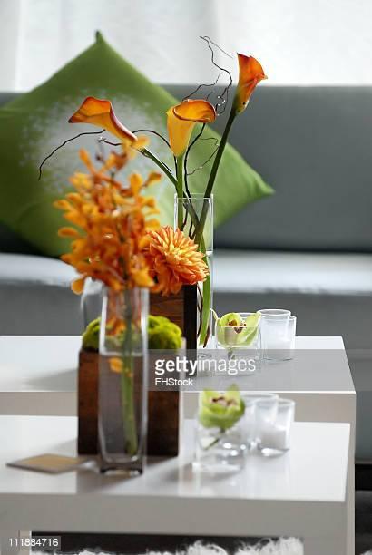 Recepção de festa decorações florais