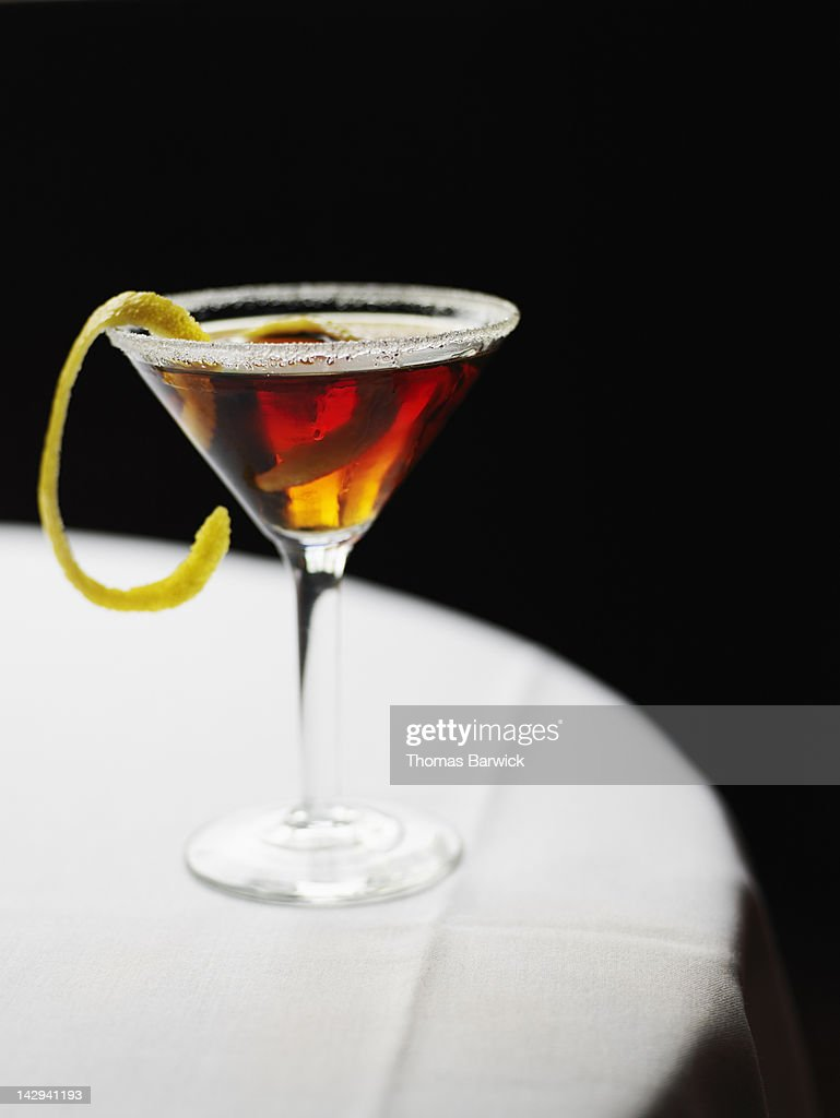 Cocktail served in martini glass : Stock Photo