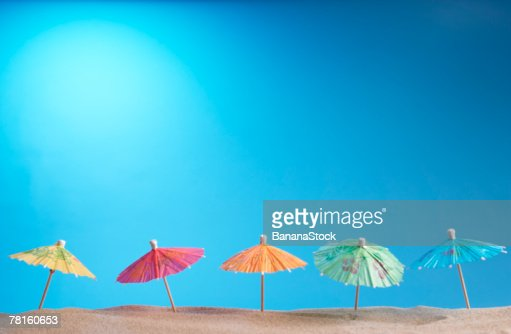 Cocktail umbrellas : Stock Photo