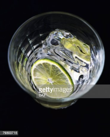 Cocktail, White Rum on the Rock, High Angle View : Stock Photo