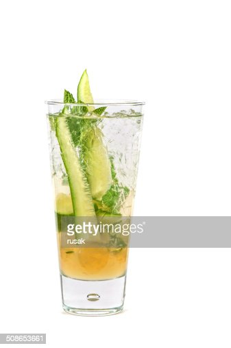 cocktail with cucumber : Stock Photo
