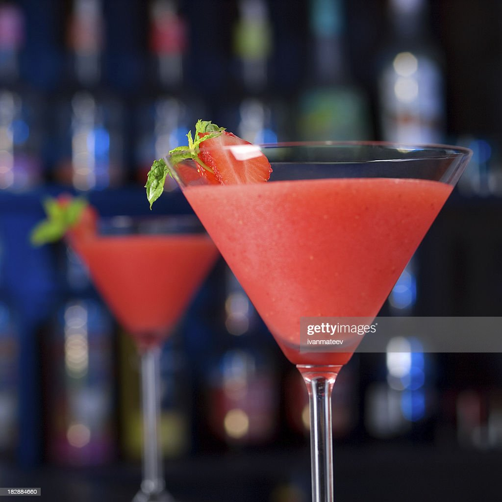 Cocktails Collection - Strawberry Daiquiri : Stock Photo