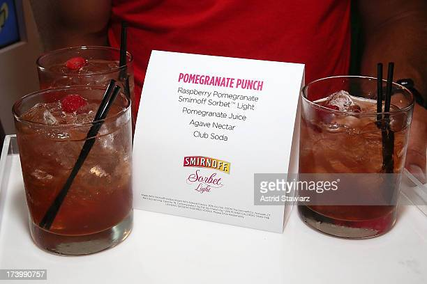 Cocktails made with SMIRNOFF Sorbet Light are served during the Havaianas Marie Claire Summer KickOff Event on July 18 2013 in New York City