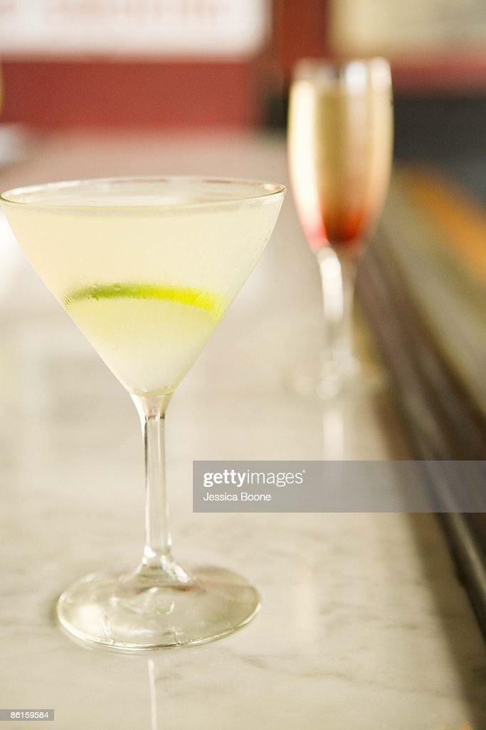 Cocktails on bar : Stock Photo