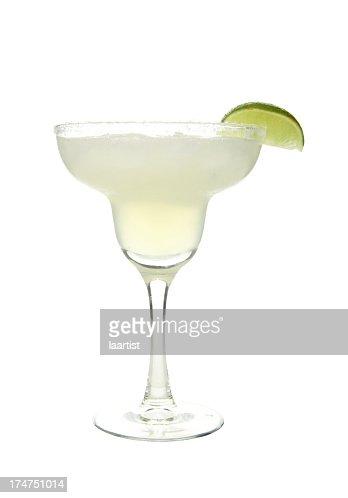 Cocktails on white: Margarita.