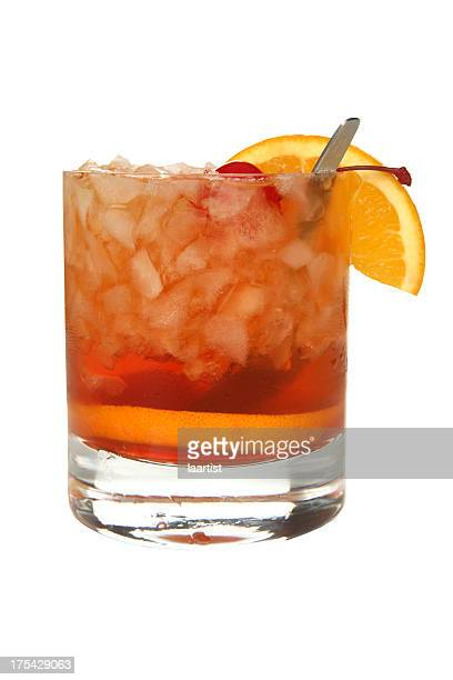 Cocktails on white: Old Fashioned.