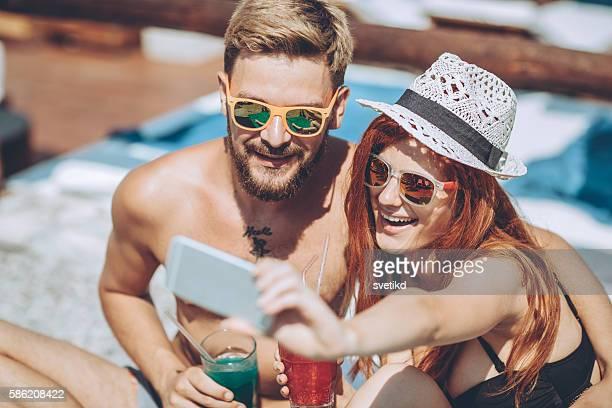Cocktails selfie