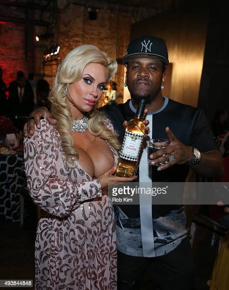 Coco and guest attend David Tutera's CELEBrations IceT Coco's PreBirthday Party For Baby Chanel at Cedar Lake Events on October 22 2015 in New York...