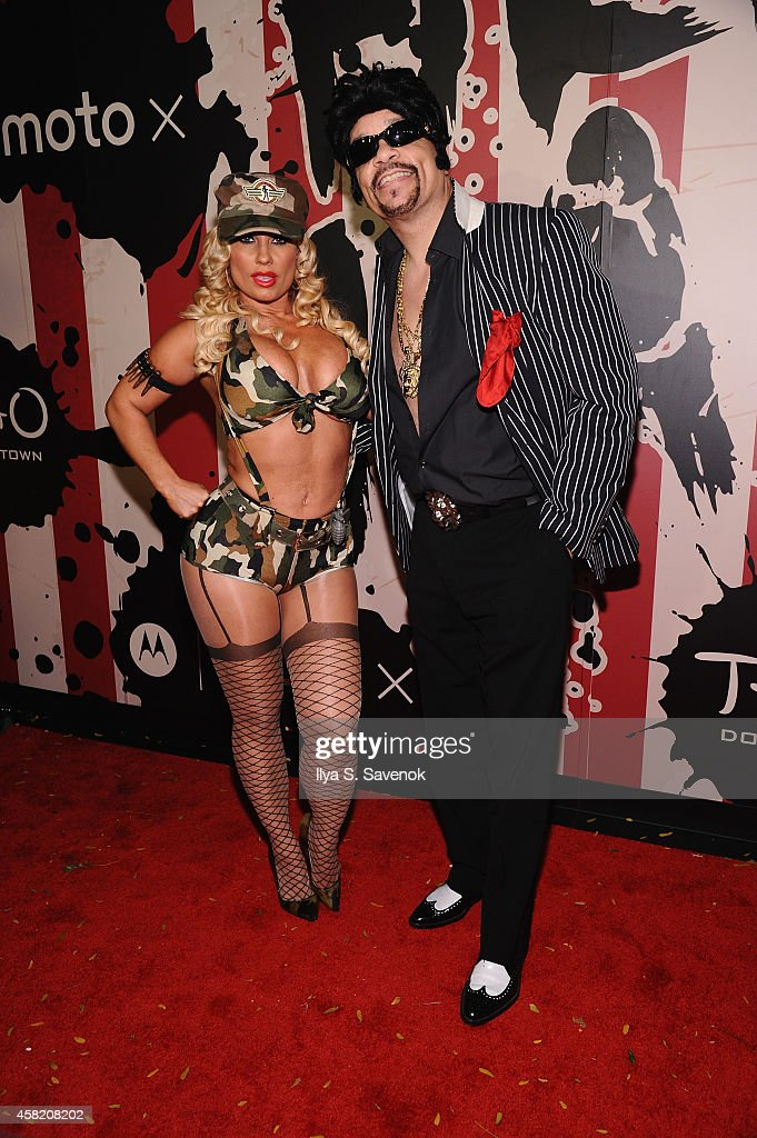 CoCo and Ice T attend Moto X presents Heidi Klum's 15th Annual Halloween Party sponsored by SVEDKA Vodka at TAO Downtown on October 31 2014 in New...