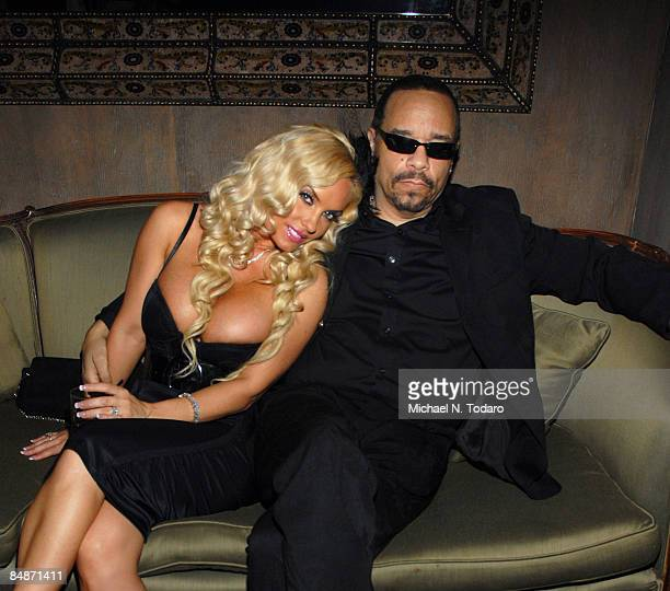 CoCo and Ice T attend the LuxuryFashioncom 'Faces of Fashion Week' soiree at RDV on February 17 2009 in New York City
