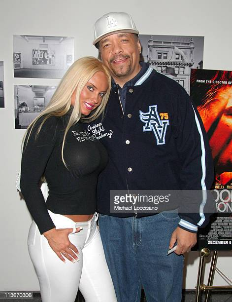 Coco and Ice T during 'Blood Diamond' New York City Screening November 30 2006 at MoMa in New York City New York United States