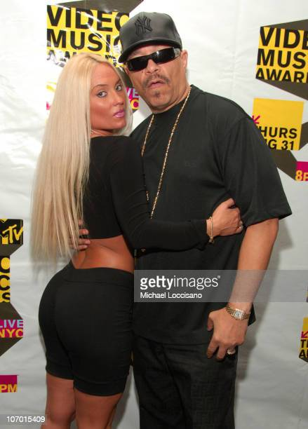 Coco and Ice T during The 2006 MTV VMA Forum at Radio City Music Hall in New York City New York United States