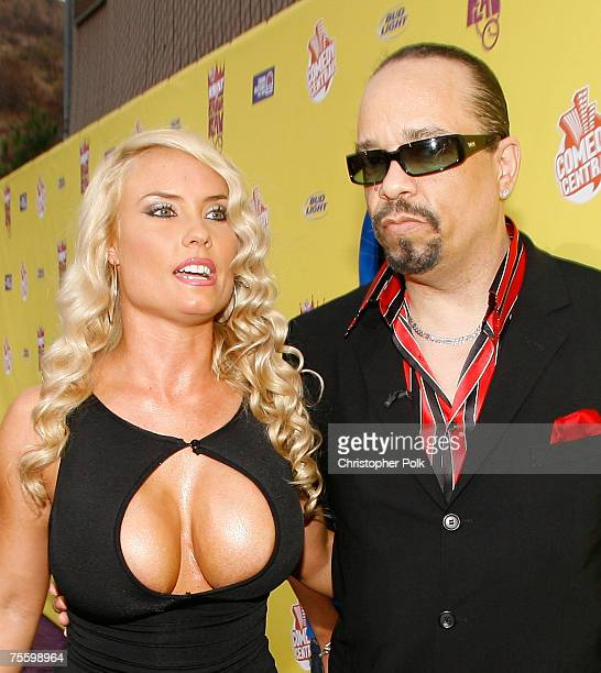 Coco and IceT arrive to The Comedy Central Roast of Flavor Flav at Warner Bros Studios on July 22 2007 in Burbank California