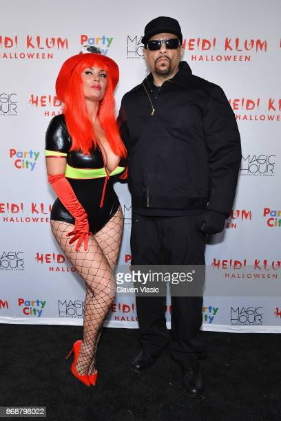 Coco and IceT attend Heidi Klum's 18th annual Halloween Party presented by Party City at the Magic Hour Rooftop Bar Lounge on October 31 2017 in New...