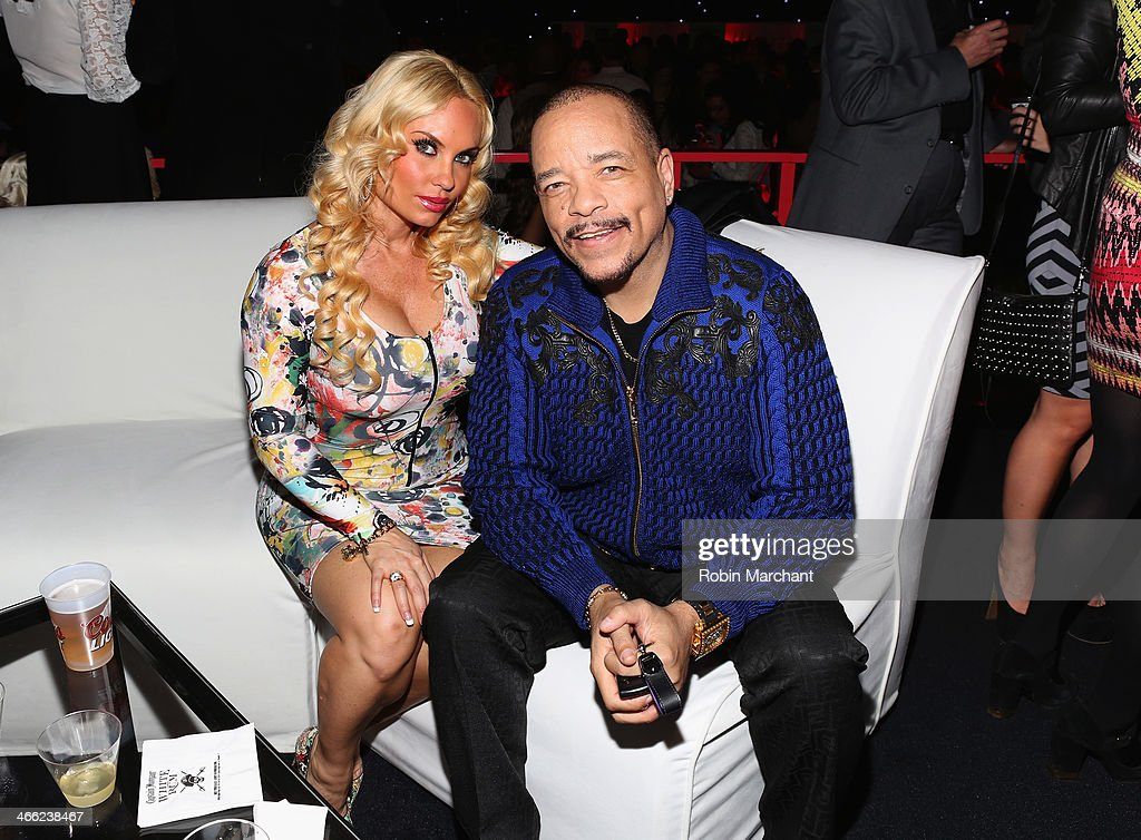 CoCo and <a gi-track='captionPersonalityLinkClicked' href=/galleries/search?phrase=Ice-T&family=editorial&specificpeople=213017 ng-click='$event.stopPropagation()'>Ice-T</a> attend the ESPN The Party at Basketball City - Pier 36 - South Street on January 31, 2014 in New York City.