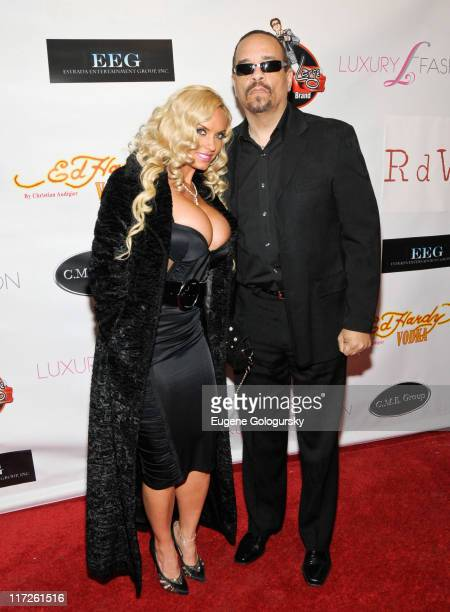 Coco and IceT attend the Faces of Fashion Week soiree at RDV on February 17 2009 in New York City