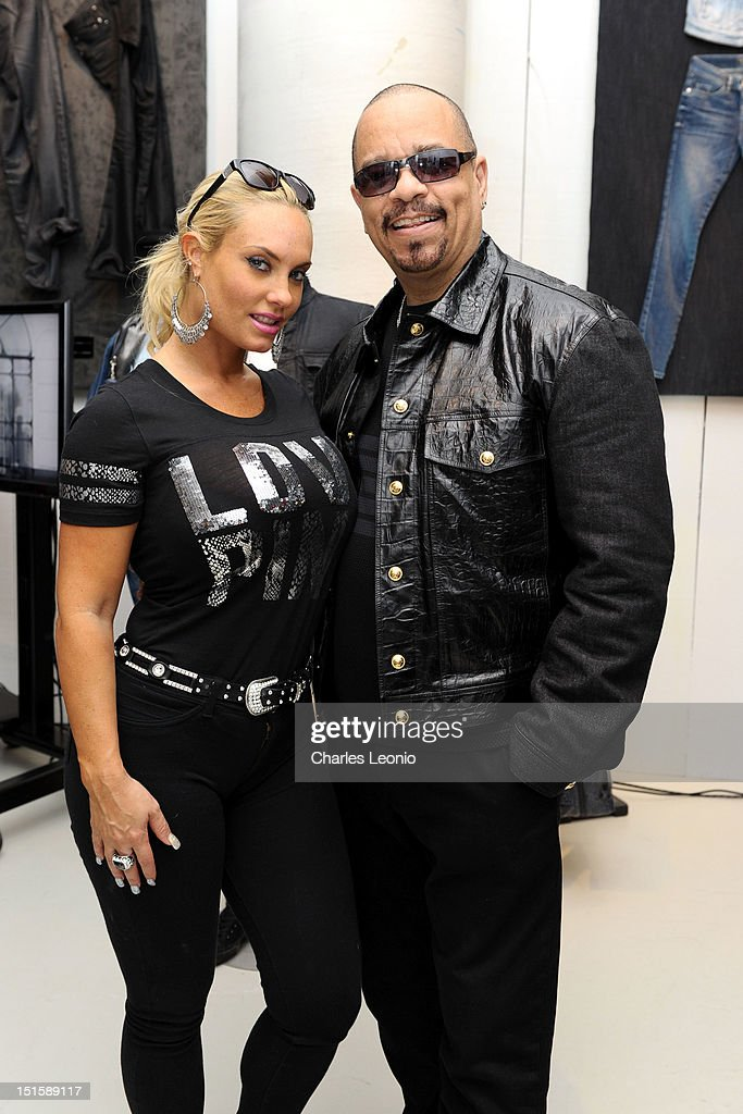 Coco (L) and <a gi-track='captionPersonalityLinkClicked' href=/galleries/search?phrase=Ice-T&family=editorial&specificpeople=213017 ng-click='$event.stopPropagation()'>Ice-T</a> pose at the Guess Portrait Studio on Day 3 during the 2012 Toronto International Film Festival at Bell Lightbox on September 8, 2012 in Toronto, Canada.