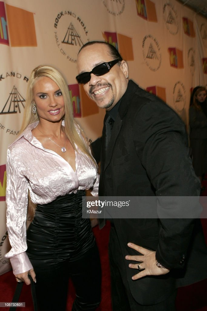 Coco and Ice-T, presenter during 20th Annual Rock and Roll Hall of Fame Induction Ceremony - Red Carpet at Waldorf Astoria in New York City, New York, United States.