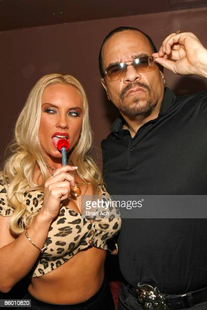 Coco and rapper/actor IceT visit M2 Ultra Lounge on April 16 2009 in New York City