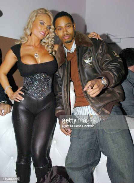 Coco and Terrance J during Ice T and Coco Host Smooth Magazine Cover Party at Boulevard January 22 2007 at Boulevard in New York City New York United...