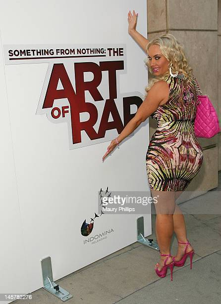 Coco arrives at 'Something From Nothing The Art Of Rap' Los Angeles Premiere at ArcLight Cinemas on June 5 2012 in Hollywood California