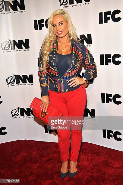 Coco attends IFC's 'Onion News Network' season 2 premiere event at The New Museum on October 3 2011 in New York City