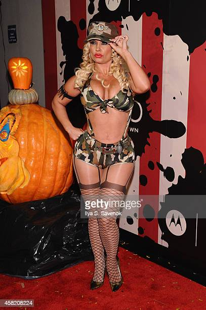 CoCo attends Moto X presents Heidi Klum's 15th Annual Halloween Party sponsored by SVEDKA Vodka at TAO Downtown on October 31 2014 in New York City
