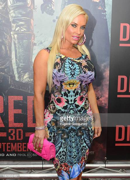 Coco attends the 'DREDD 3D' New York premiere at Regal Union Square on September 18 2012 in New York City