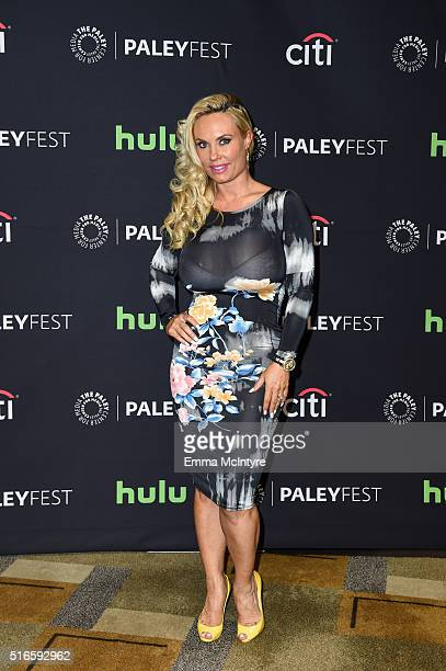 Coco Austin aka 'Coco' arrives at The Paley Center For Media's 33rd Annual PaleyFest Los Angeles presentation of 'An Evening with Dick Wolf with the...