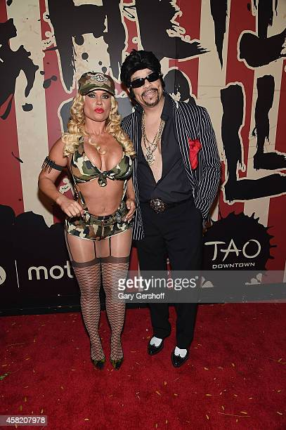 Coco Austin and Ice T attend 'Heidi Klum's 15th Annual Halloween Party' at TAO Downtown on October 31 2014 in New York City