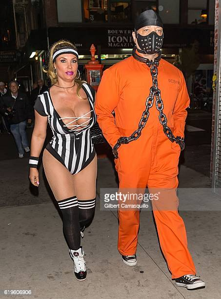 Coco Austin and IceT are seen arriving at Heidi Klum's 17th Annual Halloween Party at Vandal on October 31 2016 in New York City