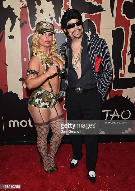Coco Austin and IceT attend 'Heidi Klum's 15th Annual Halloween Party' at TAO Downtown on October 31 2014 in New York City