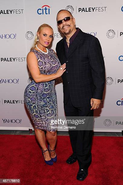 Coco Austin and IceT attend the 2nd Annual Paleyfest New York Presents Law Order SVU' at Paley Center For Media on October 13 2014 in New York New...