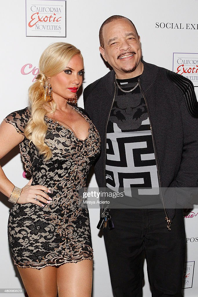 Coco Austin and Ice-T attend the Coco Licious launch party at The Raven on March 25, 2014 in New York City.
