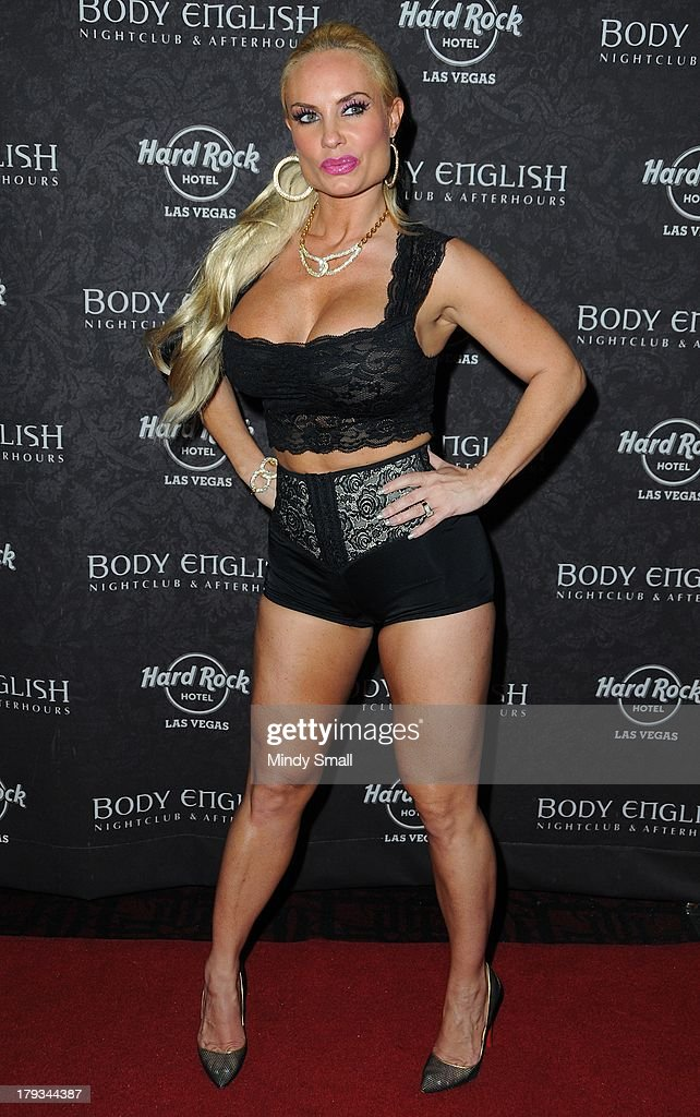<a gi-track='captionPersonalityLinkClicked' href=/galleries/search?phrase=Coco&family=editorial&specificpeople=207511 ng-click='$event.stopPropagation()'>Coco</a> Austin arrives at the Body English nightclub inside the Hard Rock Hotel & Casino on September 1, 2013 in Las Vegas, Nevada.