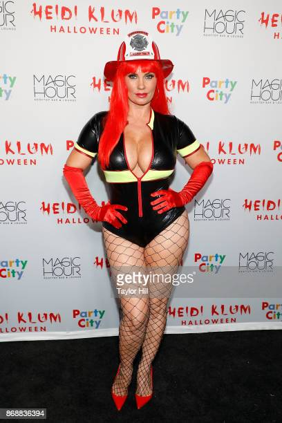 Coco Austin attends Heidi Klum's 18th annual Halloween Party presented by Party City at the Magic Hour Rooftop Bar Lounge on October 31 2017 in New...