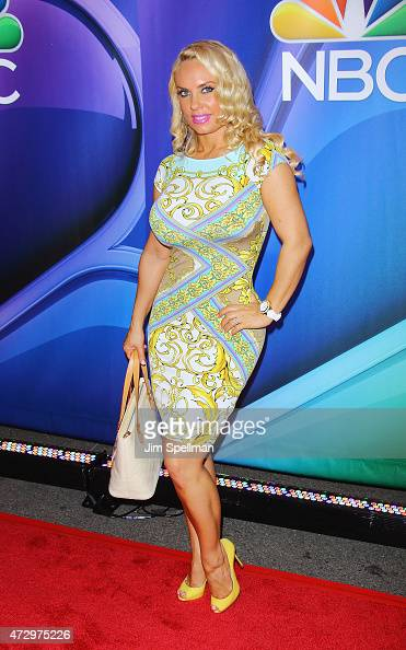 Coco Austin attends the 2015 NBC upfront presentation red carpet event at Radio City Music Hall on May 11 2015 in New York City