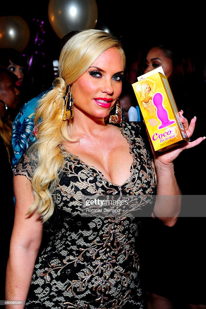 <a gi-track='captionPersonalityLinkClicked' href=/galleries/search?phrase=Coco+Austin&family=editorial&specificpeople=207511 ng-click='$event.stopPropagation()'>Coco Austin</a> attends the 'Coco Licious' Collection Launch at The Raven on March 25, 2014 in New York City.