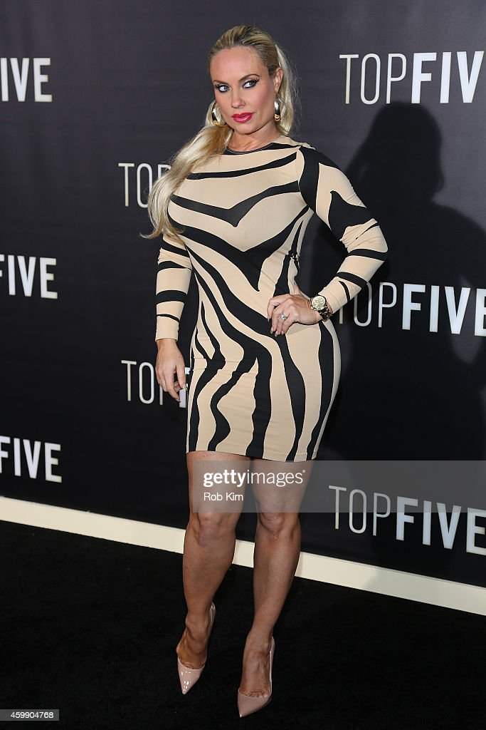 Coco Austin attends the 'Top Five' New York Premiere at Ziegfeld Theater on December 3 2014 in New York City