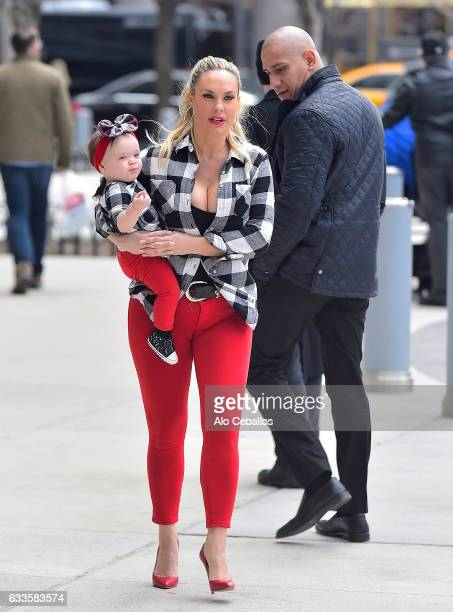 Coco Austin with Chanel Nicole Marrow are seen in Soho on February 2 2017 in New York City