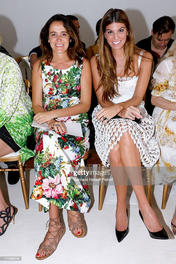 Coco Brandolini d'Adda and her sister <a gi-track='captionPersonalityLinkClicked' href=/galleries/search?phrase=Bianca+Brandolini+d%27Adda&family=editorial&specificpeople=5507285 ng-click='$event.stopPropagation()'>Bianca Brandolini d'Adda</a> attend the Giambattista Valli show as part of Paris Fashion Week Haute-Couture Fall/Winter 2013-2014 on July 1, 2013 in Paris, France.