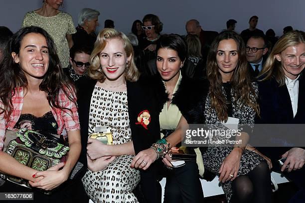 Coco Brandolini d'Adda Charlotte Dellal Deena Aljuhani Abdulaziz Alexia Niedzielski and Elizabeth von Guttman attend the Giambattista Valli...