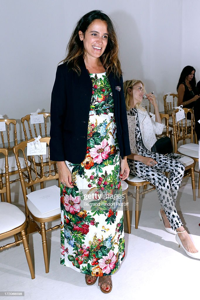 Coco Brandolini d'Adda pregnant attends the Giambattista Valli show as part of Paris Fashion Week Haute-Couture Fall/Winter 2013-2014 at on July 1, 2013 in Paris, France.