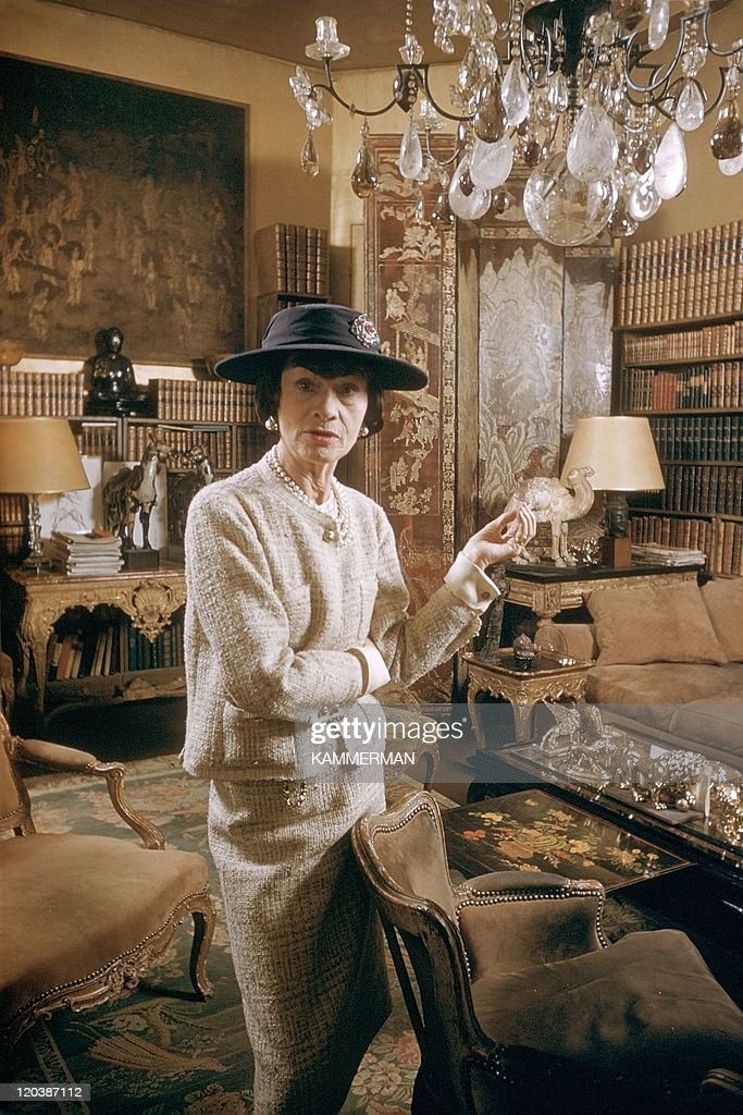 <a gi-track='captionPersonalityLinkClicked' href=/galleries/search?phrase=Coco+Chanel&family=editorial&specificpeople=216245 ng-click='$event.stopPropagation()'>Coco Chanel</a> in Paris, France in 1959 - Miss <a gi-track='captionPersonalityLinkClicked' href=/galleries/search?phrase=Coco+Chanel&family=editorial&specificpeople=216245 ng-click='$event.stopPropagation()'>Coco Chanel</a>. <a gi-track='captionPersonalityLinkClicked' href=/galleries/search?phrase=Coco+Chanel&family=editorial&specificpeople=216245 ng-click='$event.stopPropagation()'>Coco Chanel</a>'s appartment, Cambon street.